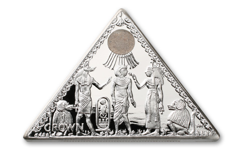 10. Silver Pyramid Coin GÇô Isle of Man