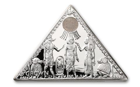 10. Silver Pyramid Coin GÇô Isle of Man